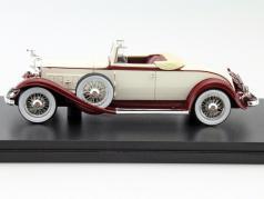 Packard 902 Standard Eight Convertible year 1932 beige / red 1:43 Neo