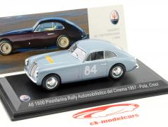 Maserati A6 Pininfarina #84 Rally Automobilistico del Cinema 1957 Pola, Croci 1:43 Leo Models