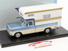 Ford F-100 camper Light Blue metallic / beige 1:43 Neo