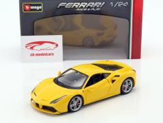 Ferrari 488 GTB yellow 1:24 Bburago