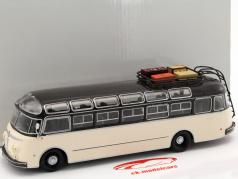 Isobloc 648DP bus year 1955 dark blue / cream White 1:43 Altaya