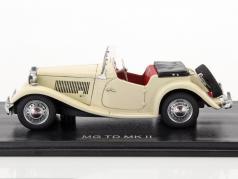 MG TD MK II RHD Convertible open Top white 1:43 Neo