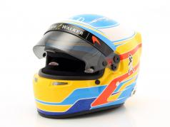 Fernando Alonso McLaren Honda formule 1 2017 casque 1:2 Bell