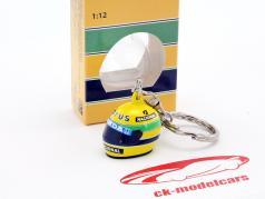 Ayrton Senna 3D keyring helmet formula 1 1987 1:12 Minichamps