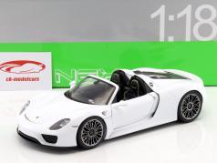 Porsche 918 Spyder Cabriolet white 1:18 Welly