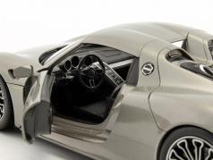 Porsche 918 Spyder Hard-Top gray metallic 1:18 Welly