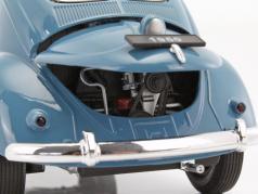 Volkswagen VW Classic Beetle year 1950 blue / beige 1:18 Welly