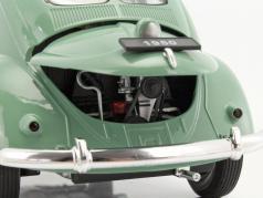Volkswagen VW Classic Beetle year 1950 green / beige 1:18 Welly