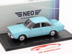 Ford P7A limousine light Blue 1:43