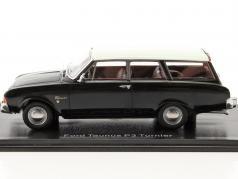 Ford Taunus 17m P3 Turnier black / cream white 1:43 Neo