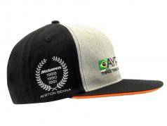 Ayrton Senna Cap #12 3 x mondo campione nero / grigio