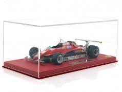 Didier Pironi Ferrari 126C2 #28 Long Beach US West GP formula 1 1982 con vetrina 1:18 BBR