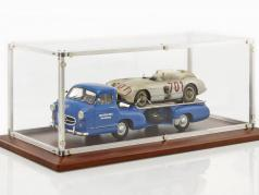 quality showcase with wooden base For racing transporter in 1:18