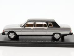 Peugeot 604 Limousine Heuliez Construction year 1978 silver / black 1:43 Neo