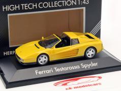 Ferrari Testarossa Spyder année de construction 1984-1996 jaune 1:43 Herpa