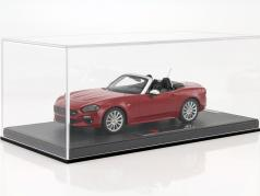 Fiat 124 Spider red with showcase 1:18 BBR