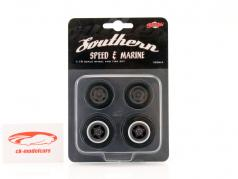 Southern Speed and Marine Wheel and Tire set 1:18 GMP