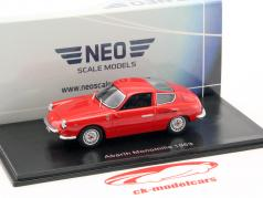 Fiat Abarth 1000 GT Monomille Construction year 1963 red 1:43 Neo