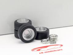Wheel set Tuning steel wheels 4x narrow 1:18 Neo
