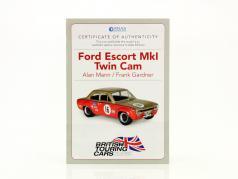 Frank Gardner Ford Escort Mk1 Twin Cam #16 BTCC champion 1968 1:43 Atlas
