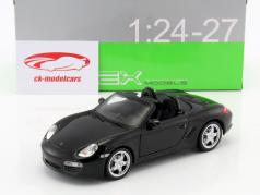 Porsche Boxster S Cabriolet year 2012 black 1:24 Welly