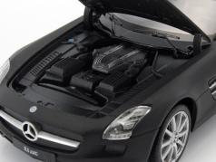 Mercedes-Benz SLS AMG year 2010 mat black 1:24 Welly