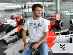 Ayrton Senna McLaren T-Shirt Three Times World Champion branco