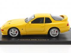Porsche 968 Turbo S year 1993 yellow 1:43 Neo