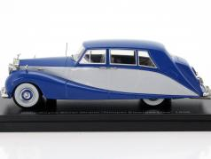 Rolls Royce Silver Wraith Hooper Empress Line year 1956 blue / light gray 1:43 Neo