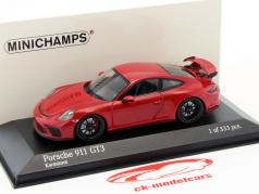 Porsche 911 (991) GT3 MK II year 2017 carmine red 1:43 Minichamps