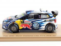 Volkswagen VW Polo WRC #1 World Champion load Race Rallye Australia 2016 1:43 Spark