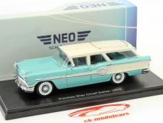 Pontiac Star Chief Safari year 1958 turquoise / White 1:43 Neo