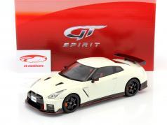 Nissan GT-R Nismo R35 year 2017 white 1:18 GT-Spirit