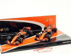 Alonso #14 & Vandoorne #2 2-Car set McLaren Honda MCL32 formula 1 2017 1:43 Minichamps