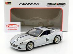 Ferrari California T #14 The Hot Rod 70th Anniversary Collection silver metallic 1:18 Bburago