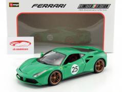 Ferrari 488 GTB #25 The Green Jewel 70th Anniversary Collection green metallic 1:18 Bburago