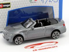 BMW M4 Cabriolet year 2014 grey metallic 1:43 Bburago