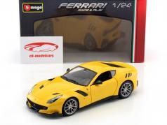 Ferrari F12 TDF year 2016 yellow 1:24 Bburago