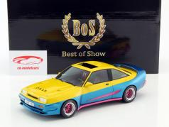 Opel Manta B Mattig from the Movie Manta Manta 1991 yellow / blue metallic 1:18 BoS-Models