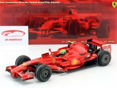 F. Massa Ferrari F2008 #2 Three consecutives Victories Turkey GP F1 2006-2008 1:18 Hotwheels