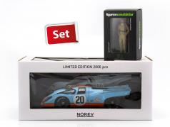 Porsche 917K #20 24h LeMans 1970 Siffert, Redman set with driver figure Siffert 1:18 Norev