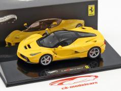 Ferrari LaFerrari Baujahr 2013 gelb 1:43 HotWheels Elite