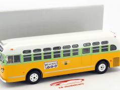 General Motors TDH 3610 Rosa Parks Bus Baujahr 1955 gelb / grün / weiß 1:43 Altaya