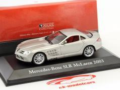 Mercedes-Benz SLR McLaren Baujahr 2003 silber metallic 1:43 Atlas