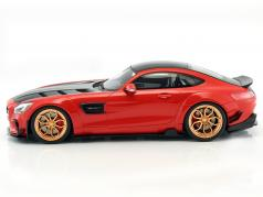Mercedes-Benz AMG GT modified by Prior Design vermelho / preto 1:18 GT-SPIRIT