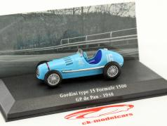 Gordini Type 15 #16 Pau GP formel 1500 1948 1:43 Atlas