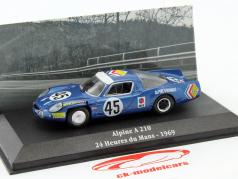 Alpine A210 #45 24h LeMans 1969 Wollek, Killy 1:43 Atlas