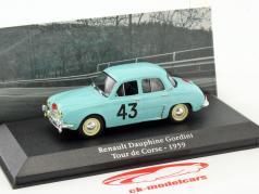Renault Dauphine Gordini #43 Winner Tour de Corse 1959 Orsini, Canonici 1:43 Atlas