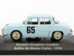 Renault Dauphine Gordini #65 Winner Rallye Monte Carlo 1958 Monraisse, Feret 1:43 Atlas