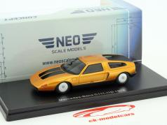 Mercedes-Benz C111-IID year 1976 dark orange metallic 1:43 Neo